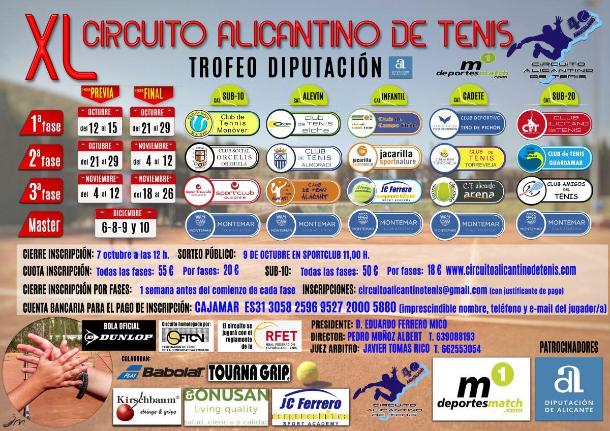 EL AMIGOS ALBERGA LA 3º FASE DEL ALICANTINO DE TENIS EN CATEGORÍA SUB 20