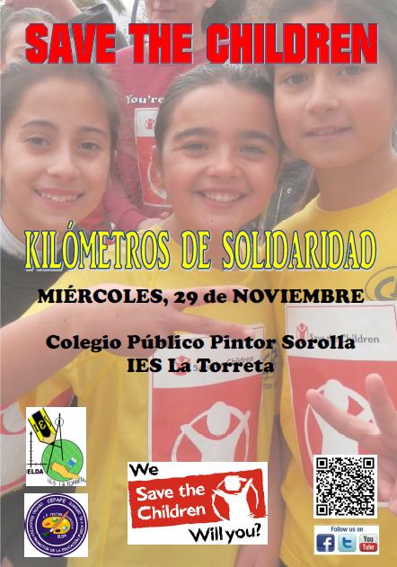 "VUELVE ESTE  MIÉRCOLES 29 LA CARRERA SOLIDARIA ""KILÓMETROS DE SOLIDARIDAD"""