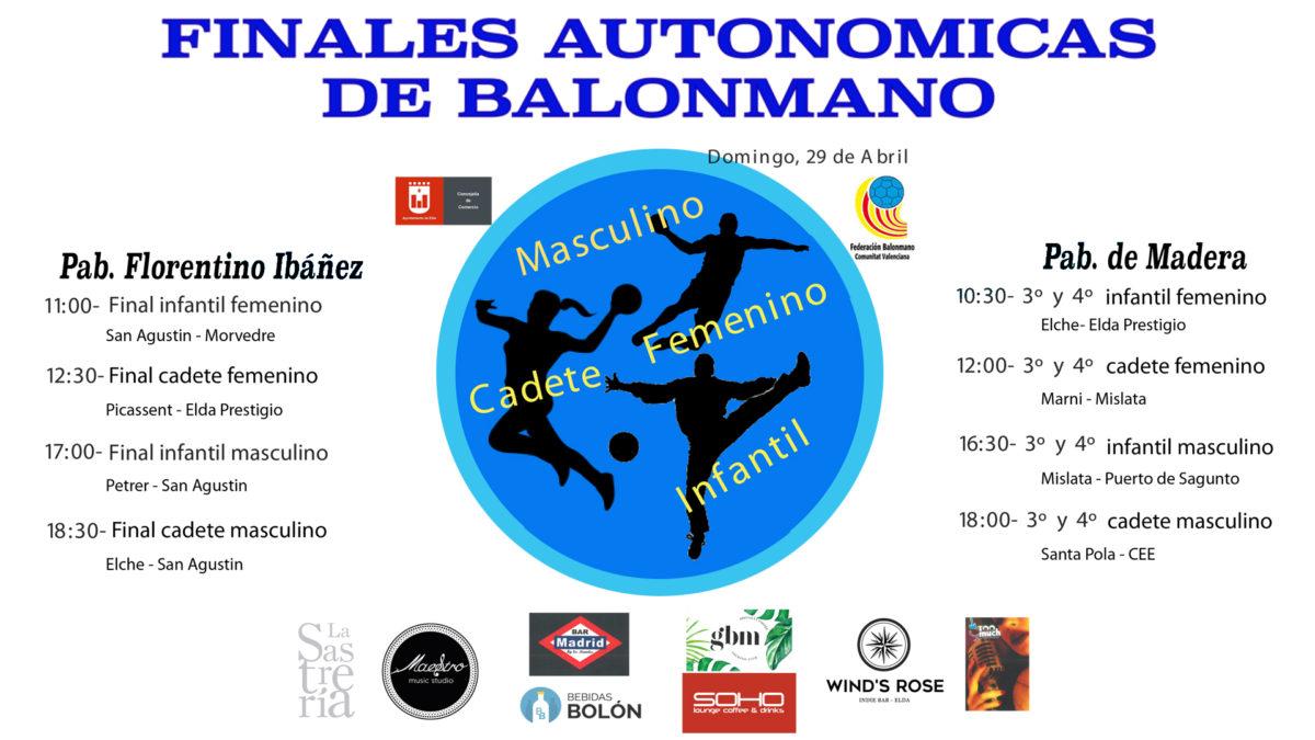 SE PRESENTAN LAS FINALES AUTONÓMICAS DE BALONMANO DE ESTE DOMINGO EN ELDA